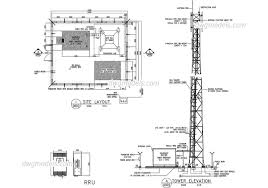 telecommunication tower dwg free cad blocks download