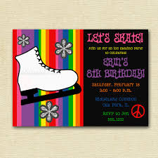Halloween Birthday Invitation Wording by Roller Skating Party Invitation Wording Image Collections