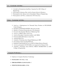 extracurricular resume extracurricular activities resume resume