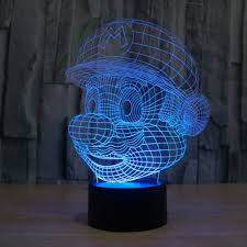 aliexpress com buy mario 3d usb led night light 7colors changing