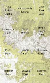 Map Grand Canyon The Confluence