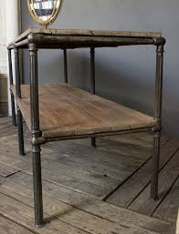 Industrial Console Table Large Industrial Console Table 145 Antiques