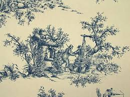 french toile de jouy 100 cotton designer upholstery curtain