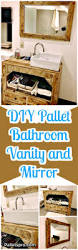 Vanity And Mirror Diy Pallet Bathroom Vanity And Mirror Pallets Pro