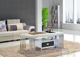 Steel Living Room Furniture Gifted Office Furniture European Stainless Steel Coffee Table Kung