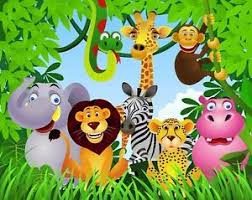 safari cake toppers jungle safari animals edible cake topper image 1 4 sheet cookies