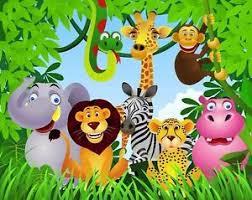 safari cartoon jungle safari animals edible cake topper image 1 4 sheet cookies