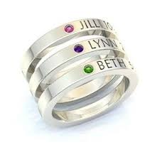 mothers rings stackable engraved engraved stackable rings with children s names on them i this