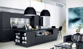 modern island kitchen black modern kitchen home design ideas murphysblackbartplayers
