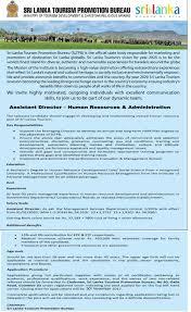 d agement bureau sri lankan tourism promotion bureau vacancies find