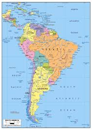 map of cities in south america large political map of south america with roads and major cities