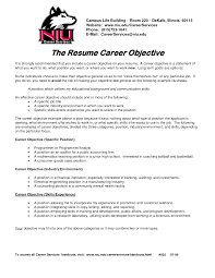 A Job Resume Example by Career Objective Resume Examples Free Download