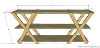 Easy Plans To Build A Picnic Table by Remodelaholic Diy Double X Console Table