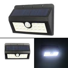 solar lights 2 pack 20led motion sensor light waterproof outdoor