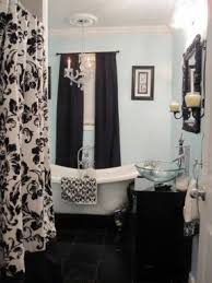 Black And Cream Damask Curtains Damask Shower Curtain Foter