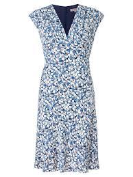 jigsaw daisy print dress in blue lyst