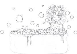 bubble bath sketch by otakucouture on deviantart