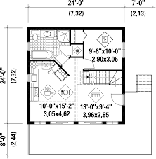 Floor Plans For A Cabin Cabin Style House Plan 2 Beds 2 00 Baths 831 Sq Ft Plan 25 4272