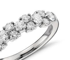 white garland 1 ct tw garland cubic zirconia ring 14k white gold plated