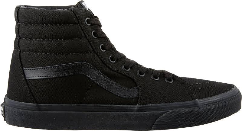 Vans Sk8-Hi (Black/Black/Black) Skate Shoes-10