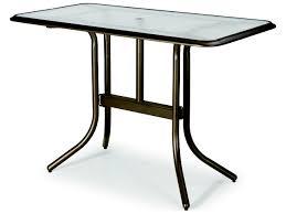 Telescope Casual Patio Furniture by Telescope Casual Glass 60 U0027 U0027 X 32 U0027 U0027 Rectangular Bar Height Table