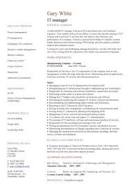 Technical Product Manager Resume Sample It Manager Resume Template It Manager Resume Product Manager