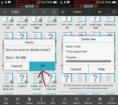 android file host tutorial deleting hosts file to fix no connection error play store