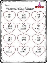 3 digit addition u0026 subtraction worksheet valentine u0027s day theme tpt
