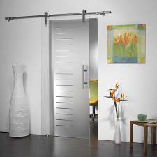 Interior Glazed Doors White by Barn Door Interior White Very Cool Sliding Door For The Kitchen