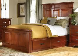 Storage Bed America Kalispell Mantel King Storage Bed In Rustic Mahogany Kalrm5131