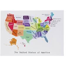 United States East Coast Map by Map Of The East Coast Note Card April May Smudge Ink
