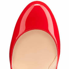 classic christian louboutin fifi 120mm red patent leather round