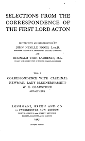 modã le discours mariage selections from the correspondence of the lord acton vol i