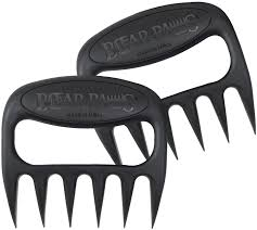 amazon com carving knives forks home kitchen carving knives the original bear paws shredder claws easily lift handle shred and cut meats essential for bbq pros ultra sharp blades and heat resistant nylon