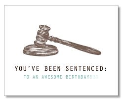 hilarious lawyer birthday card judge card law student
