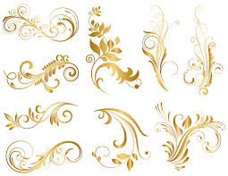 Gold Flowers Gold Flower Clipart Clipartxtras