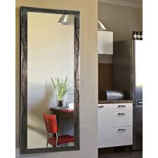 Bevelled Floor Mirror by 28 5 In X 63 5 In Vanity Black Smoke Non Beveled Floor Mirror