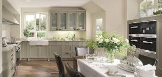 offene landhausküche montana in basalt grau beckermann küchen - Landhausküche Grau