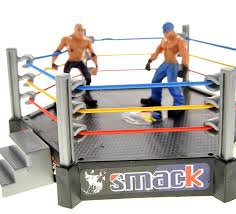 amazon com powertrc wrestling toy figure set w ring 12 figures