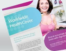 health insurance flyer template on behance