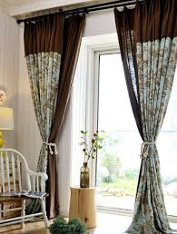 Floor To Ceiling Curtains Blue Linen Tropical Floor To Ceiling Breathable Bird Curtains