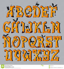 spooky halloween font capital letters stock vector image 59667531