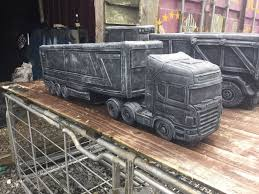 3 foot scania lorry garden ornaments planters concrete or