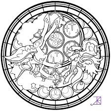 celestia stainedglass the line art by akili amethyst on