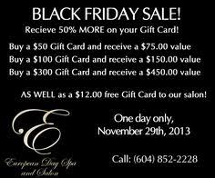 black friday deals on gift cards drybar gift coaster joy to the hair salon marketing