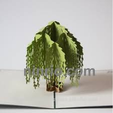 pop up tree willow tree 3d pop up card card greetings card buy 3d