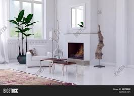cozy minimalist white living room image u0026 photo bigstock