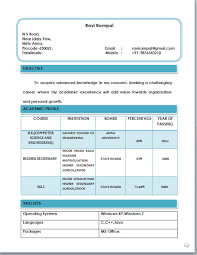 biodata format for freshers resume format for freshers free download resume format free free