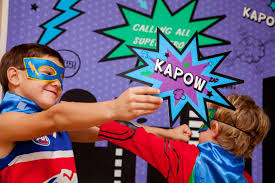 Superhero Photo Booth Superhero Party Decorative Party Signs Photobooth Props Other