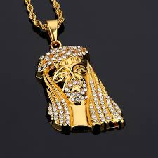 aliexpress buy nyuk mens 39 hip hop jewelry iced out mens iced out jesus pendant necklace rhinestone cz jesus god